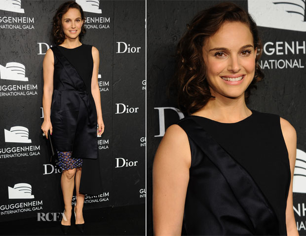 Natalie Portman In Christian Dior - Guggenheim International Gala