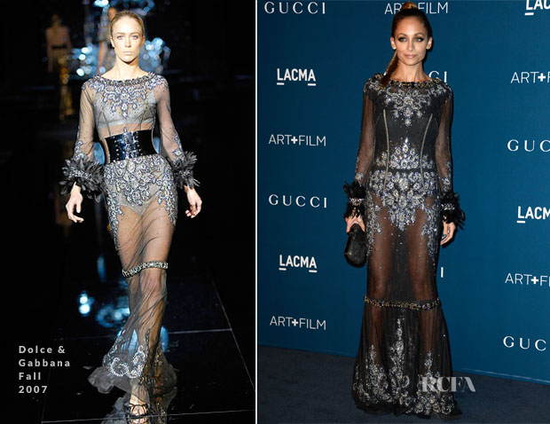 Nicole-Richie-In-Dolce-Gabbana- Fall 2007-LACMA-Art-+-Film-Gala-2013