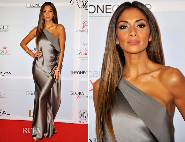 Nicole Scherzinger In Amanda Wakeley - London Global Gift Gala
