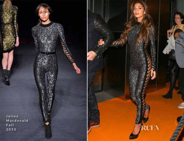 Nicole Scherzinger In Julien Macdonald  - Sushi Samba Anniversary Party