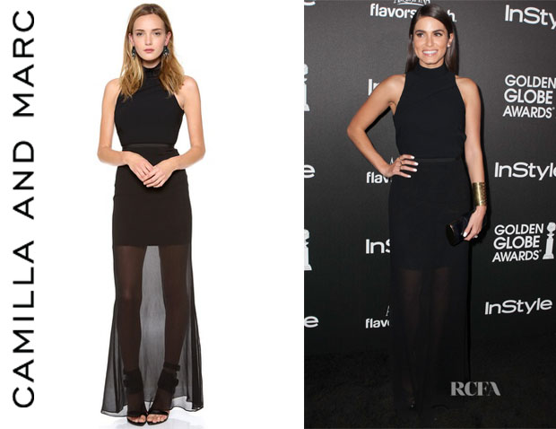 Nikki Reed's Camilla And Marc Correlation Backless Maxi Dress