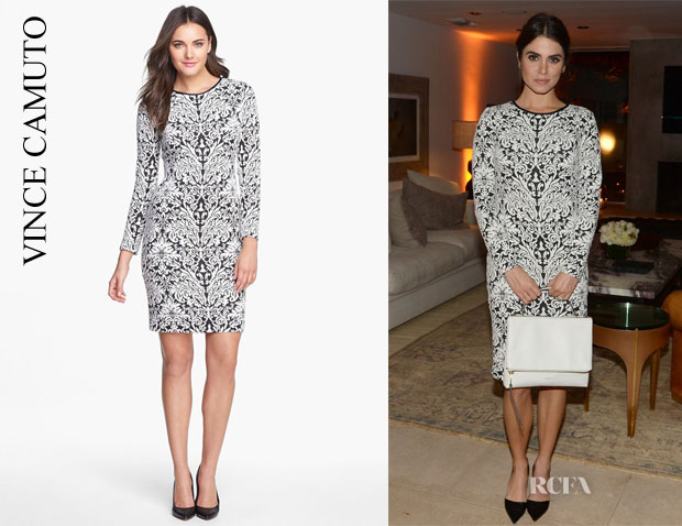 Nikki Reed's Vince Camuto Jacquard Sheath Dress