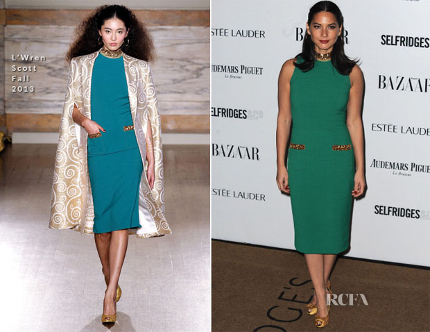 Olivia Munn In L'Wren Scott - Harpers Bazaar Women Of The Year Awards 2013