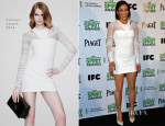 Paula Patton In Versace - 2014 Film Independent Spirit Awards Nominations Press Conference