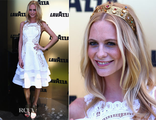 Poppy Delevingne In J'Aton Couture - Victoria Derby Day