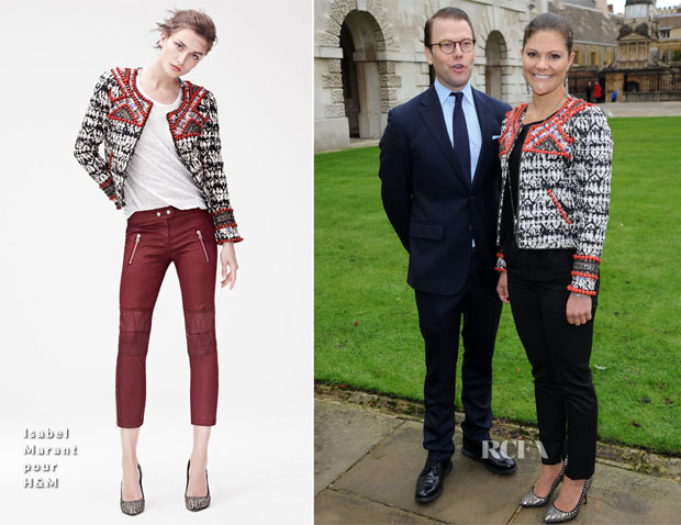 Princess Victoria of Sweden In Isabel Marant pour H&M - Kings College, Cambridge University Visit