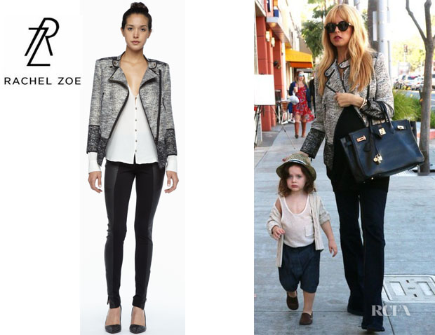 Rachel Zoe's Rachel Zoe 'Davenport' Piped Metallic Jacket