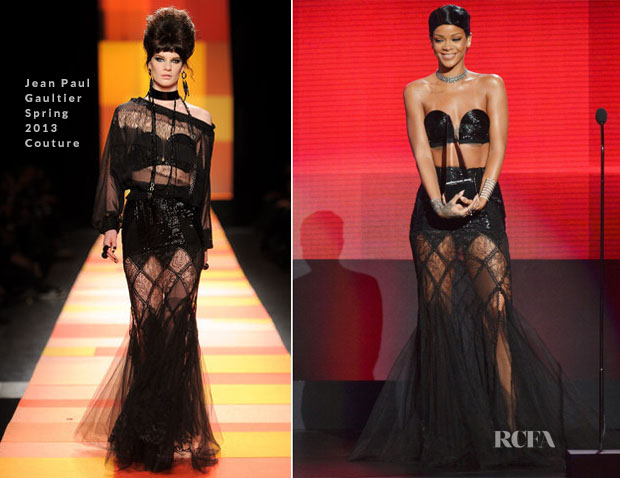 Rihanna In Jean Paul Gaultier Couture Spring 2013 - 2013 American Music Awards