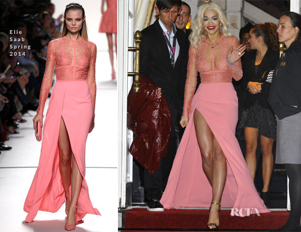 Rita Ora In Elie Saab - Out In Amsterdam