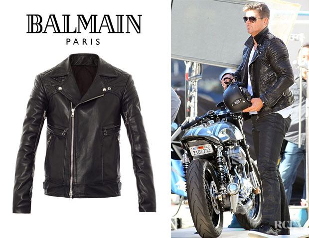 Robin Thicke's Balmain Leather Biker Jacket