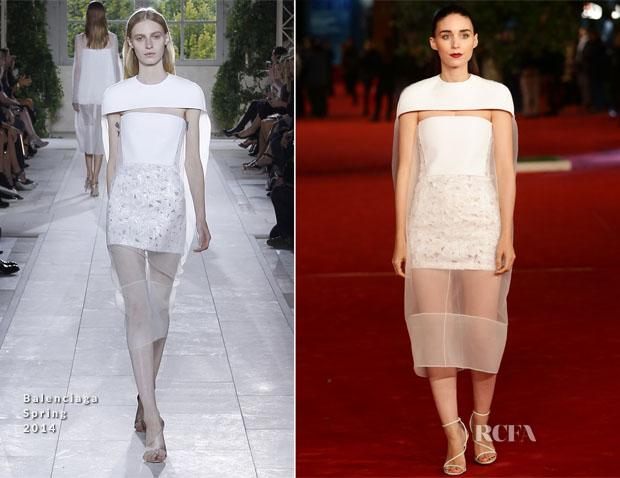 Rooney Mara In Balenciaga - 'Her' Rome Film Festival Premiere