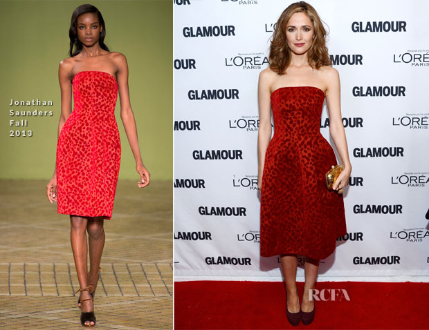 Rose Byrne In Jonathan Saunders - Glamour Magazine Women Of The Year 2013