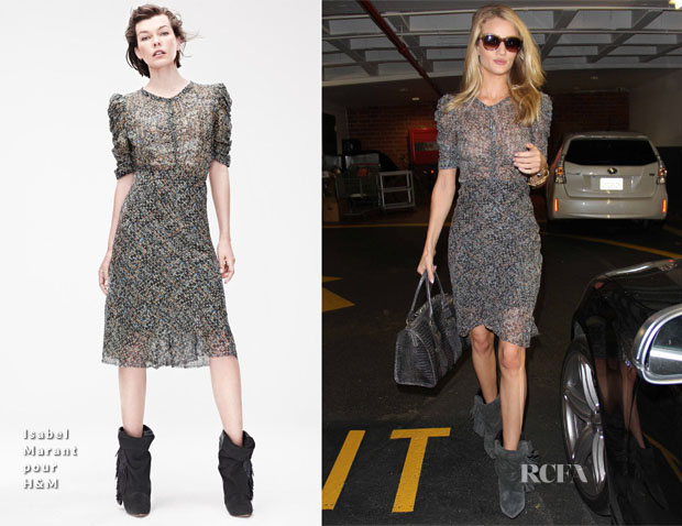 3228712cea8 Rosie Huntington-Whiteley In Isabel Marant pour H&M - Red Carpet ...