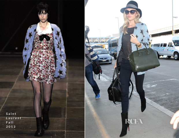 Rosie Huntington-Whiteley In Saint Laurent - LAX