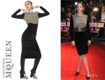 Ruth Wilson's Alexander McQueen Cotton Velvet Dress