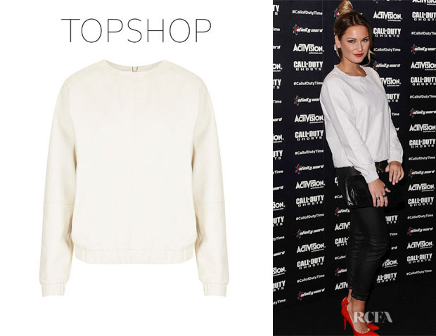 Sam Faiers' Topshop Leather Sweater