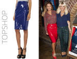 Sam Faiers' Topshop Vinyl Pencil Skirt