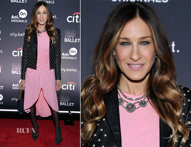 Sarah Jessica Parker In Giles & Saint Laurent - 'city ballet' Series New York Premiere