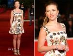 Scarlett Johansson In Dolce & Gabbana - 'Her' Rome Film Festival Premiere