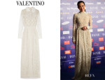 Shu Qi's Valentino Beaded Tulle Gown