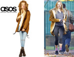 Sienna Miller's ASOS Cocoon Parka With Oversized Fur Trim Hood