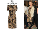 Sienna Miller's Burberry London Animal Print Silk Dress