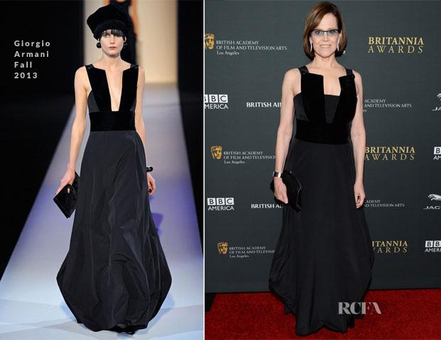 Sigourney Weaver In Giorgio Armani - BAFTA Los Angeles Britannia Awards 2013