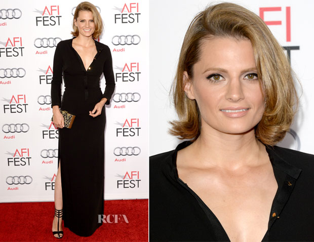Stana Katic In Halston Heritage - 'Saving Mr