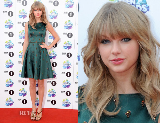 Taylor Swift In Jenny Packham Bbc Radio 1 Teen Awards Red Carpet Fashion Awards