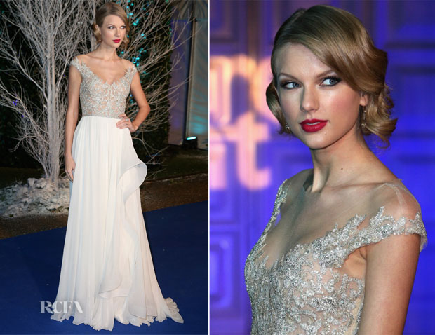 Taylor Swift In Reem Acra - Winter Whites Gala In Aid Of Centrepoint
