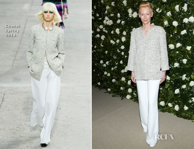 Tilda Swinton In Chanel -  MoMA Benefit A Tribute to Tilda Swinton