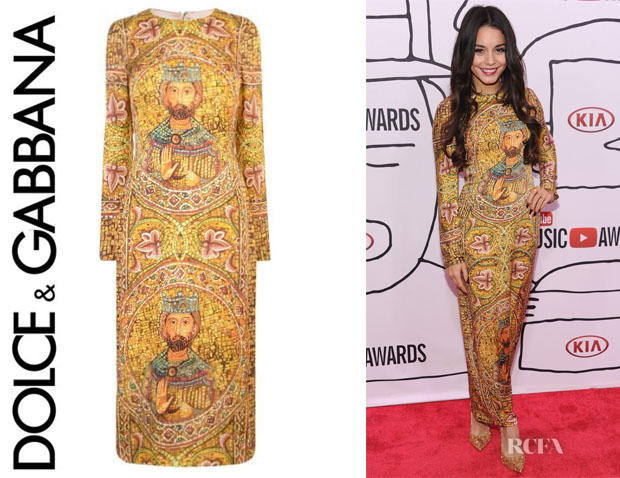 Vanessa Hudgens' Dolce & Gabbana 'King Mosaic' Fitted Dress