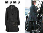 Victoria Beckham's Miu Miu Pleated Wool Coat