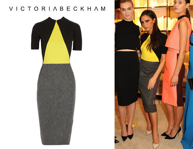 Victoria Beckham's Victoria Beckham Crepe And Wool Tweed Dress