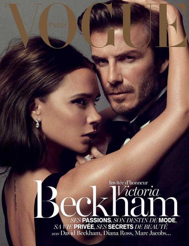 Victoria and David Beckham for Vogue Paris December-January 2014