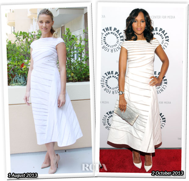 Who Wore J Mendel Better Amber Heard or Kerry Washington