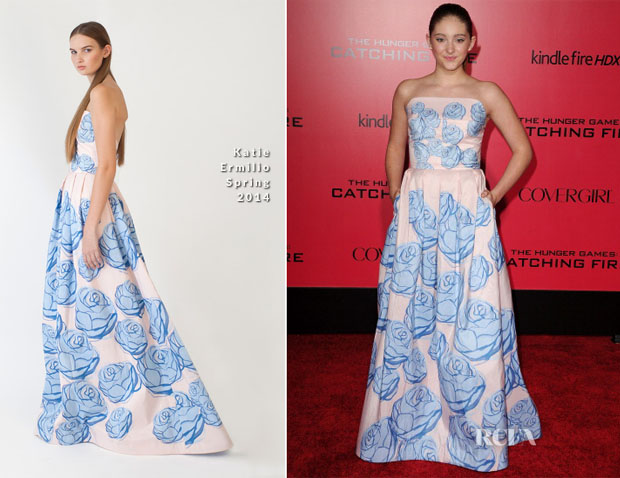 Willow Shields In Katie Ermilio - 'The Hunger Games Cathching Fire' LA Premiere