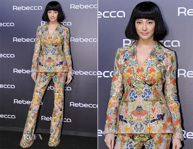 Zhang Yuqi In Alexander McQueen - Rebecca Wigs Launch Event