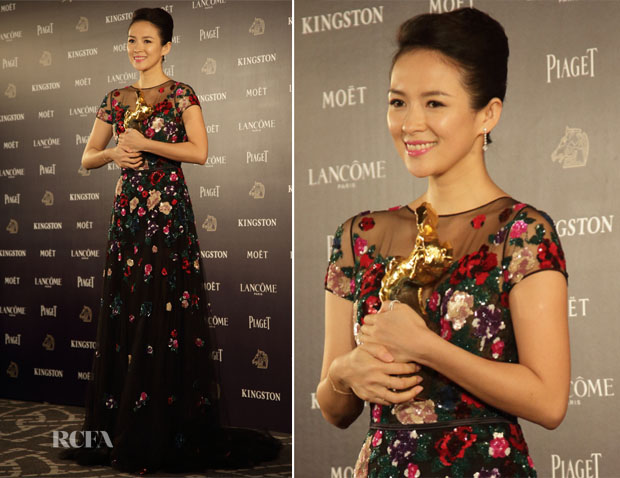 Zhang Ziyi In Zuhair Murad - 50th Golden Horse Awards After Party
