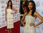 Zoe Saldana In Calvin Klein -  'Out Of The Furnace'  AFI FEST Premiere