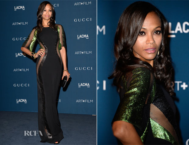 Zoe Saldana In Gucci - LACMA Art + Film Gala 2013