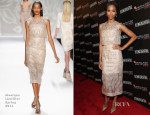 Zoe Saldana In Monique Lhuillier - 7th Annual Hamilton Behind the Camera Awards