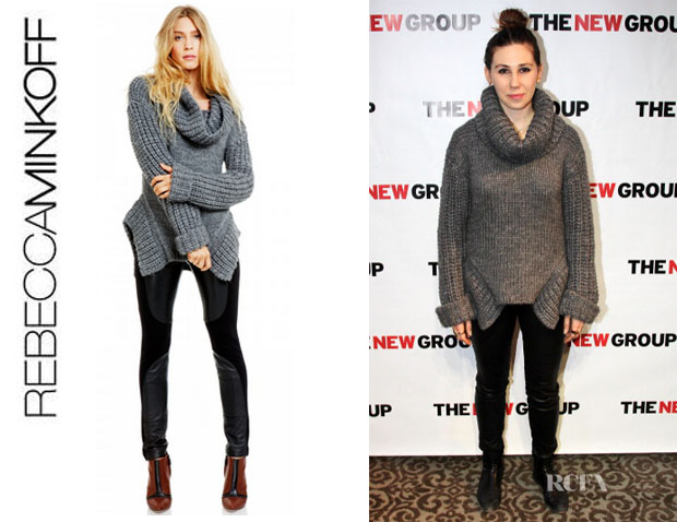 Zosia Mamet's Rebecca Minkoff Chunky Slouchy Pullover
