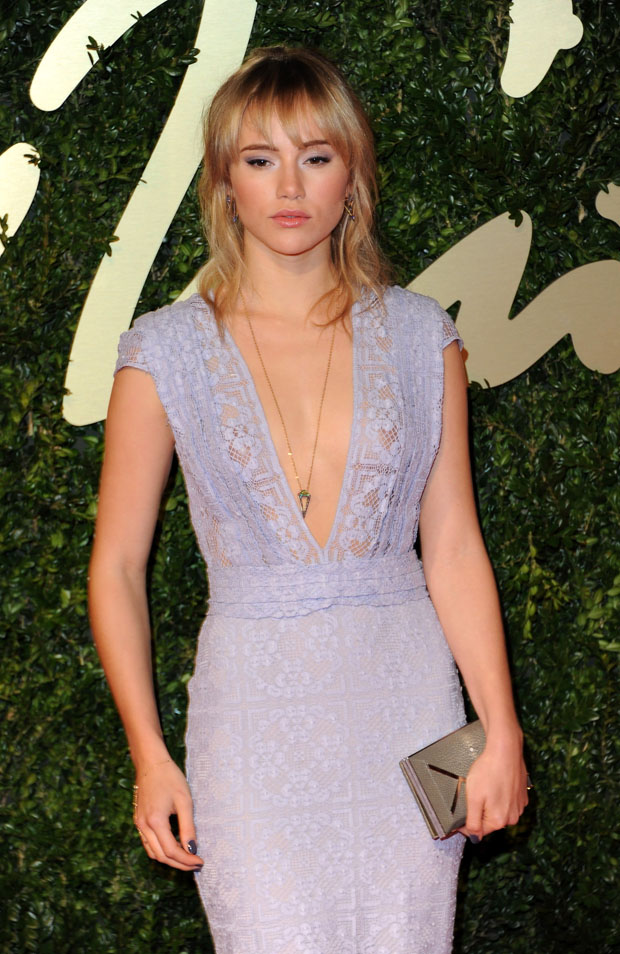 Suki Waterhouse in Burberry Prorsum