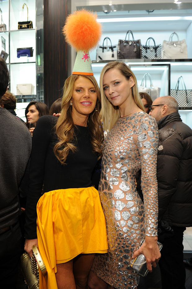 Anna Dello Russo and Carmen Kass in Michael Kors