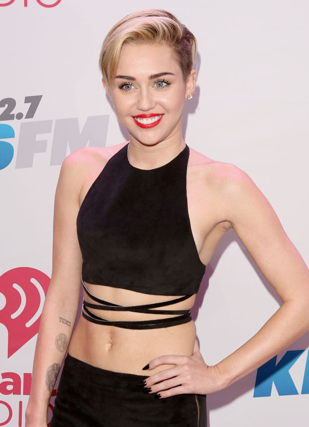Miley Cyrus in Calvin Klein Collection
