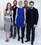 Amy Adams In Antonio Berardi & Jennifer Lawrence In Alexander McQueen - 'American Hustle' Cast Photo Call