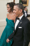Michelle Obama in Marchesa