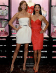 Karlie Kloss In Kaufmanfranco and Adriana Lima In Notte by Marchesa - Victoria's Secret Angels Celebrate Holiday 2013