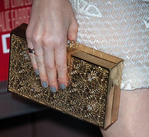Kate Mara's Charlotte Olympia clutch